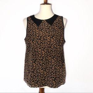 Forever 21 • Leopard print sleeveless blouse